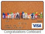Congratulations corkboard gift card