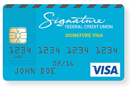 Visa Signature card image