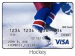 Hockey gift card