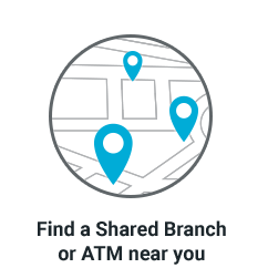 CO-OP ATM and shared branch mini banner. Find a FREE ATM or Shared Branch near you by entering a zip code.