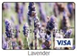 Lavender flowers gift card