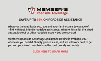 Member's Roadside Advantage - Save up to 65%25 on Roadside Assistance