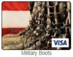 Military boot gift card