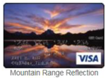 Mountain range reflection gift card