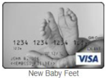 New Baby Feet gift card