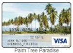 Palm tree in paradise gift card