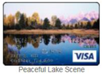 Peaceful Lake scene gift card
