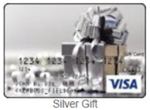 Silver gift gift card