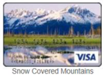 Snow covered mountains gift card